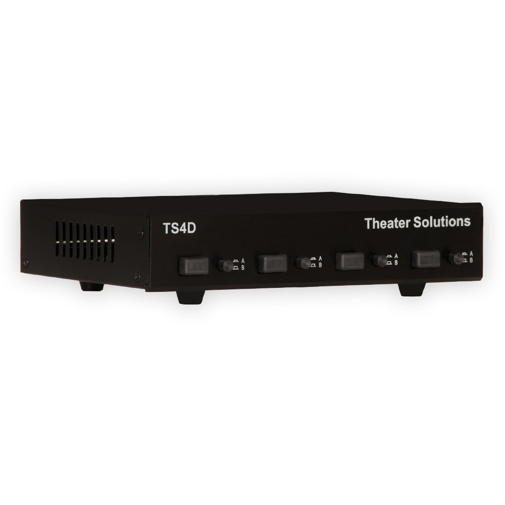 Theater Solutions TS4 Four Zone Speaker Selector Box with Ohm Protection 4 Pair Speaker Switcher Goldwood Sound Inc.