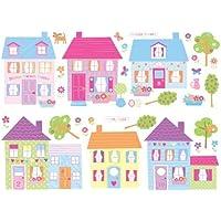 Fun4Walls SA31275 SA31275 Happy Street Wall Stickers by Fun4Walls