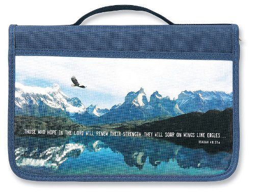 (Inspiration Eagle Canvas Navy Large Value Book and Bible Cover)