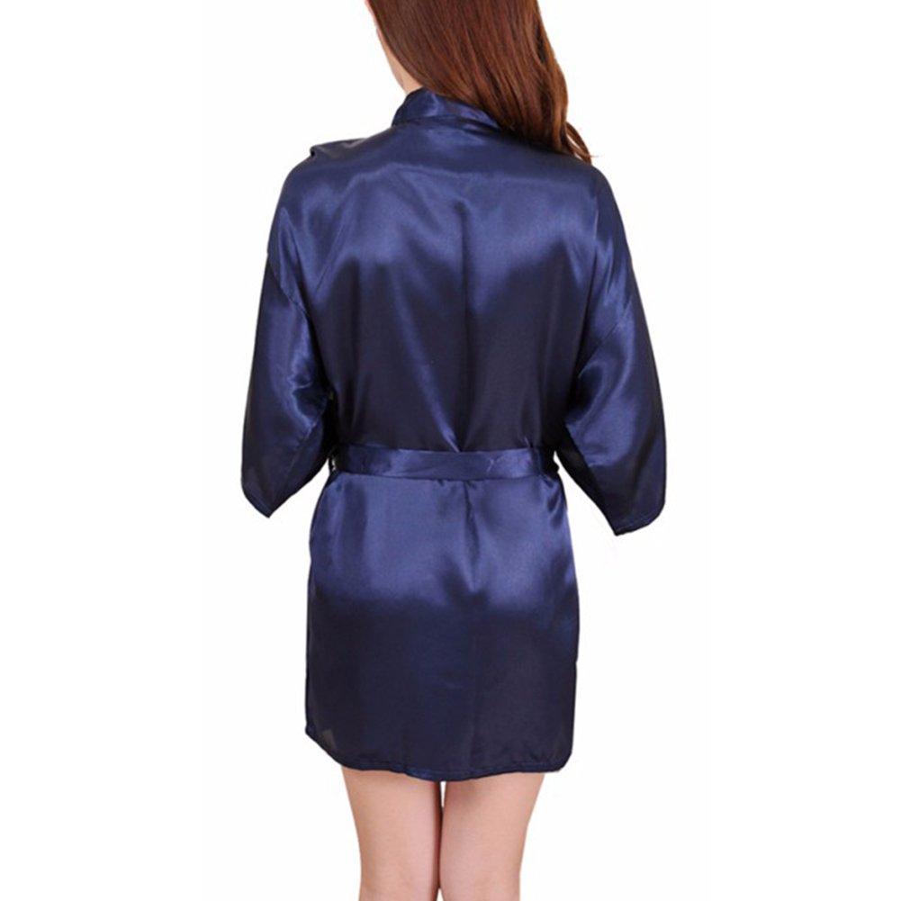 Y&L Mujeres Camisones Kimono Ropa Para Dormir, Batas De Colores Sólidos Cómodo Noctámbulo: Amazon.es: Ropa y accesorios