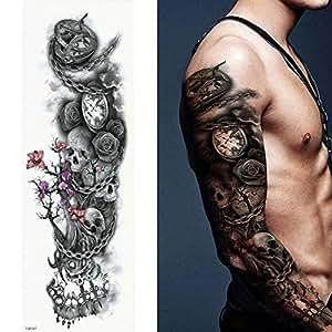 adgkitb 2 Piezas Tatuajes temporales, Lobo, Tigre, Oso ...