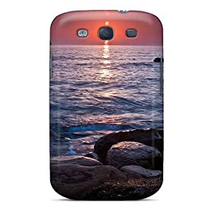 New Spectacular Sunset On The Horizon Hdr Tpu Case Cover, Anti-scratch RogerKing Phone Case For Galaxy S3