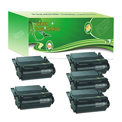 - ABCink Compatible Toner Cartridge Replacements for Lexmark 1382625,for use in Lexmark 4059,1200,1250,1650,2450,17600 Yields(5 Pack,Black)
