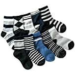 Boys Short Socks Fashion Comfort Cotton Basic Crew Kids Socks 10 Pair Pack