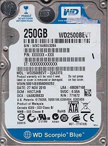 WD2500BEVT 22A23T0 DRIVER FOR PC