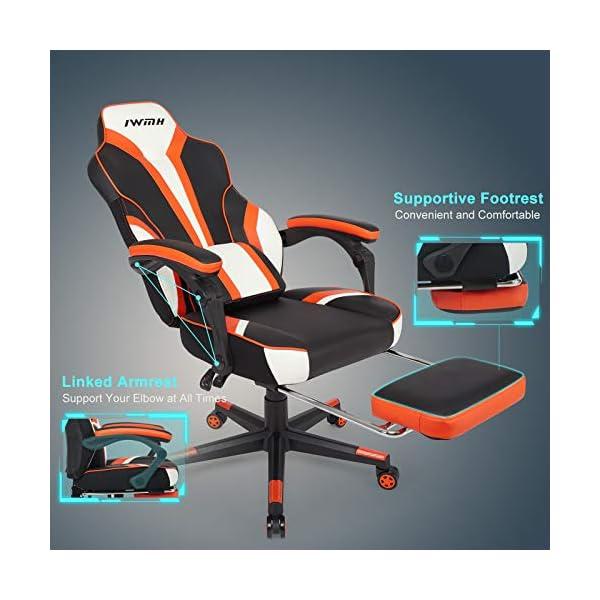 IntimaTe WM Heart Chaise Gaming, Fauteuil Gamer Ergonomique, Fauteuil Gaming avec Dossier Haut, Fauteuil de Bureau avec…