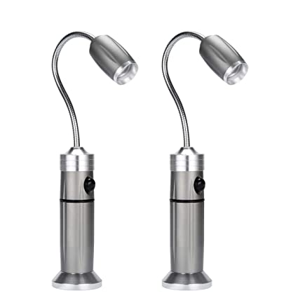 Padcod Lámpara de parrilla para barbacoa, 2 unidades, luz magnética, ángulo de base