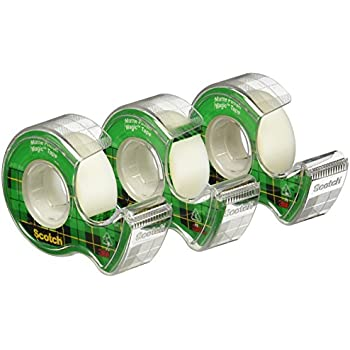 Scotch Magic Tape, 3/4 x 300-inches-Transparent-3 ct (3105)