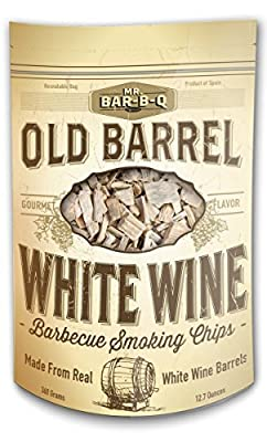 MR. BAR-B-Q 05041BC Old Barrel White Wine Barbecue Smoking Chips, Brown from Mr. Bar-B-Q Smoking Chips