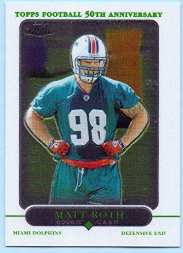 Matt Roth 2005 Topps Chrome Rookie #235 - Miami Dolphins (Iowa Brown Football Hawkeyes)