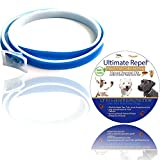 ULTIMATEREPEL Flea Tick Prevention Collar - for Dogs and Puppies - Natural Essential Oils - Length 25 inches - Adjustable - Hypoallergenic - up to 6 Months Protection - Waterproof (Blue)