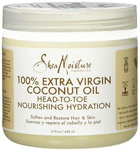 Shea Moisture 100% Xtra-Virgin Coconut Oil 15 Ounce Head-To-Toe (443ml) (2 Pack)