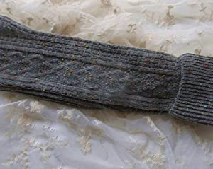 Ladies Over The Knee Thigh High Womens Stretch Girls Cool Sock Size 5-9:Gray