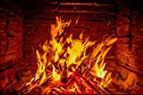 Home Comforts LAMINATED POSTER Wood Flame Fireplace Fire Barbecue Poster 24x16 Adhesive Decal