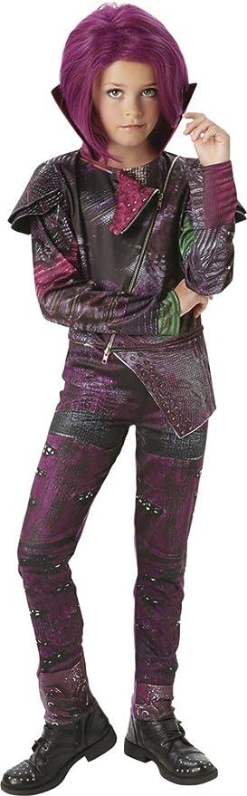 Los Descendientes - Disfraz de Mal Deluxe para niña, 5-6 años (Rubies