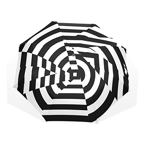 Jink Mr.Weng Household Art Optical Illusion Folding Umbrella Nanometer Fiber Fabrics Windproof for Travel