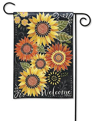 Breeze Art Sunflower Chalkboard Garden Flag 32771 ()