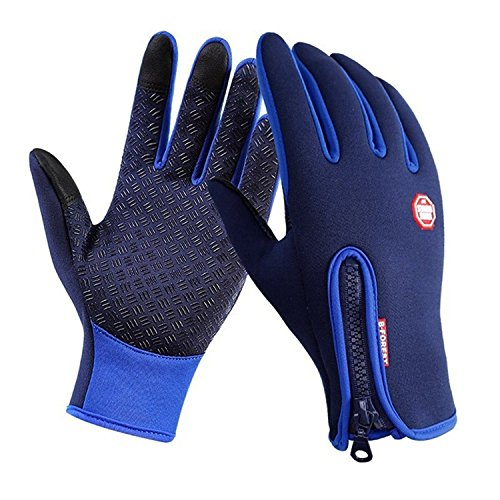 Mens Sport Neoprene Waterproof Touch Screen Thermal Gloves Mittens Winter 4 Size
