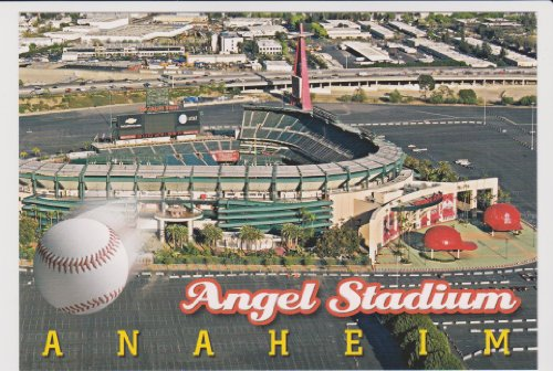 OC258 ANGEL STADIUM OF ANAHEIM, HOME OF THE ANGELES .. from Hibiscus Express (Angel Post)