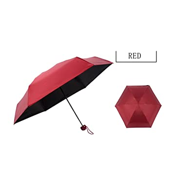 0℃ Outdoor Cápsula Mini Paraguas De Bolsillo A Prueba De Viento Paraguas Plegable Señora Sra
