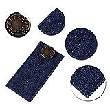 Rurah Belt Button Extension Buckle Denim Jean Waist Extender Button for Men or Women with Gold Finished Metal Button Waist Adjustment