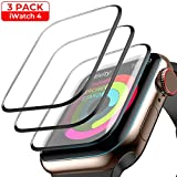 [3-Pack] Screen Protector for Apple Watch Series 4 44mm, Waterproof Crystal Clear Scratch Resist Anti-Bubble HD Clear Film