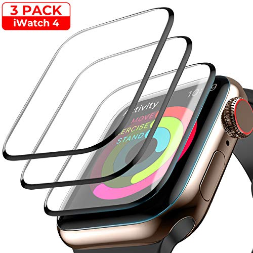 [3-Pack] Screen Protector for Apple Watch Series 4/5 - 40mm, Waterproof Crystal Clear Scratch Resist Anti-Bubble HD Clear Film