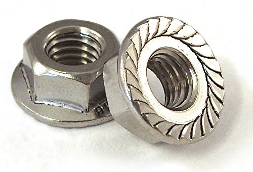 UNC A2 Stainless Steel Serrated Flange Nuts