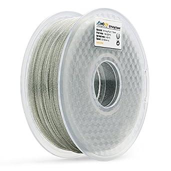 amolen filamento impresora 3d, 1,75 mm brillante plata Pla ...