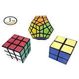 Ottiman Cube Puzzle Bundle Pack-Interesting Fun Stickerless Magic Cube, Smooth Turning Durable with Vivid Colors, Children Kids Brain Teaser & Education Cube Speed Cube Collection