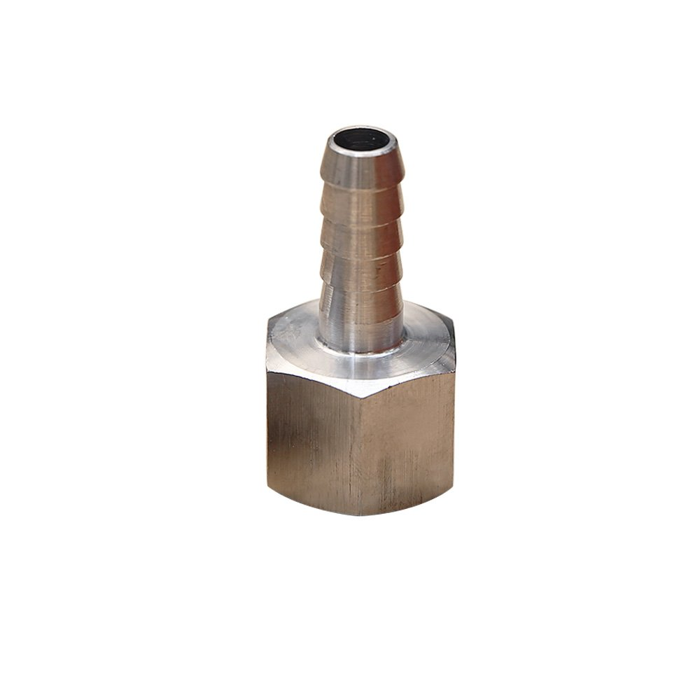 Metalwork 304 Stainless Steel Barb Fitting, Coupler Adapter, Barbed Connector To Female Pipe, 1/4'' Hose Barb x 1/4'' NPT Female, 1 Pc