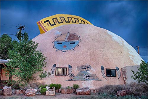 Abandoned Indian Trading post at a domed building, Arizona