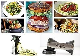 Spiral Slicer Spiralizer Complete Bundle - Vegetable Spiralizer and Cutter - Zucchini Pasta Noodle Spaghetti Maker