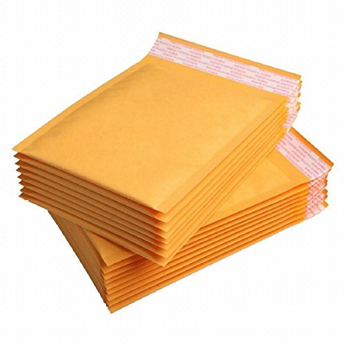 Recycled Padded Envelopes (25 Pack Premium Kraft Bubble Mailers. Useful size 8 1/2 x 11 ( 8.5 x 11 ). Outside size 9 x 12 ( 9x12 ). Large yellow padded envelopes Peel-N-Seal. Mailing & shipping & wrap. Mfg# 8x11 / 9x11.)