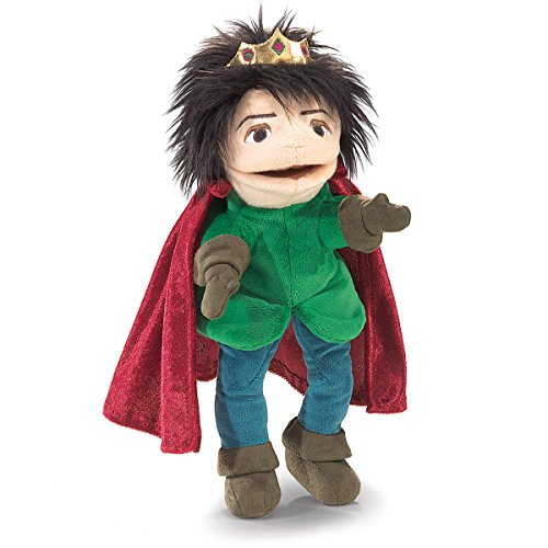 Folkmanis Royal Prince Character Hand Puppet - Crest Crown Embroidery