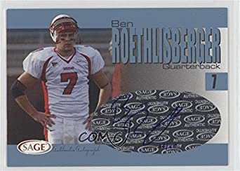 Ben Roethlisberger #14/45 (Football Card) 2004 SAGE - Autographs - Platinum #A35