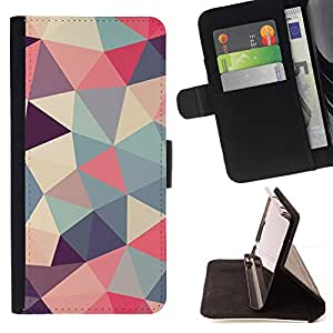 Betty For Samsung Galaxy Note 4 IV Polygon Triangle Pattern Poly Art Pattern Style PU Leather Case Wallet Flip Stand Flap Closure Cover