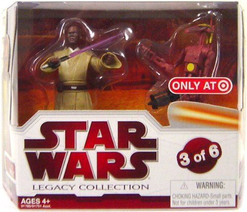 - Star Wars Legacy Collection Geonosis Arena Showdown - Mace Windu and Battle Droid Commander