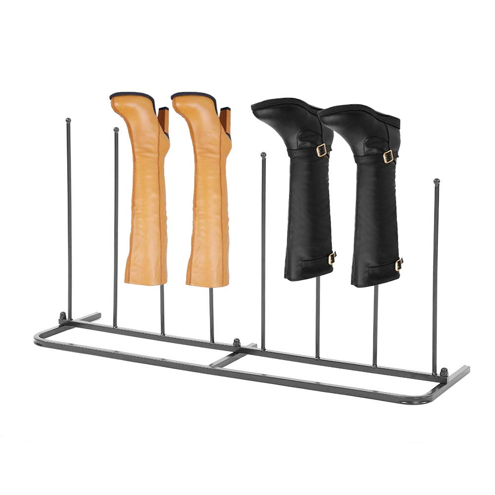 GOTOTOP 4-Pair Boot Stand for Tall Boots & Boot Rack Organizer for Closet/Entryway, Black by GOTOTOP