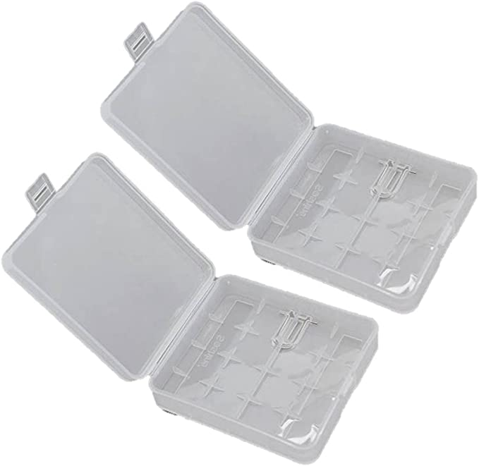 16340 Batteries Clear 5-Pack CR123A Batteries for 18650 Batteries Soshine Waterproof Battery Storage Case Holder Organizer Batteries not Included