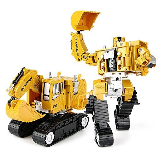 JQ trend 重機合体ロボ パワーショベルやホイールローダーがロボットに変形 5体合体で巨大ロボに (パワーショベル)