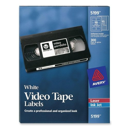 (Avery Laser Video Tape Cassette Labels Face and)