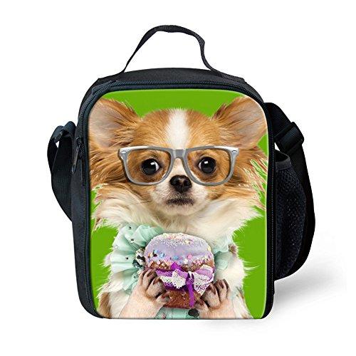 FOR U DESIGNS Unisex School Supplies Fashion Dog Print Lunch Box for Boys Girls