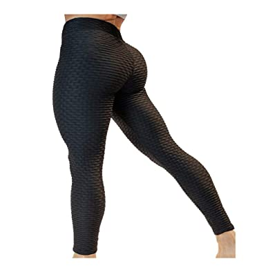 1b8205cd06 Eseres 12 Colorways High Waisted Leggings for Women Butt Lifting Slimming  Leggings Textured Stretchy Sexy Yoga