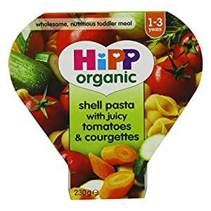 HiPP Pasta Shells With Tomatoes and Courgette, 250 g
