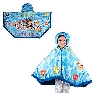 "Franco Kids Bedding Super Soft and Cozy Snuggle Wrap Hoodie Blanket, 55"" x 31"", Paw Patrol Blue"