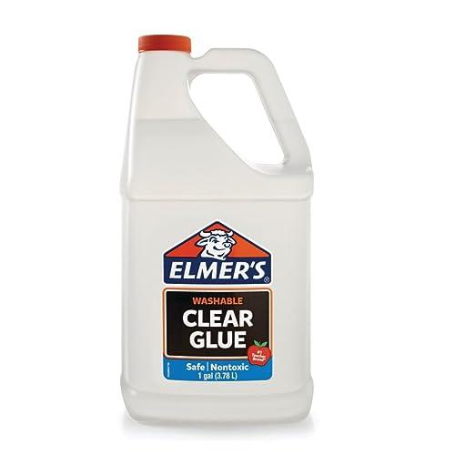 Elmers Liquid School Glue, Premium Clear, Washable, 1 Gallon, 1 Count -