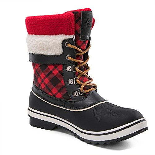 Global Win Bottes Dhiver Imperméables Womwin Womens Hiver Noir / Rouge