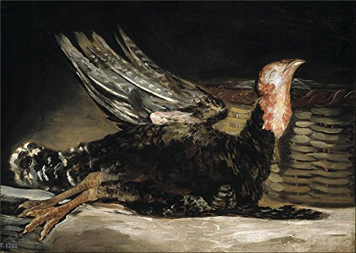[Oil Painting 'Goya Y Lucientes Francisco De A Dead Turkey 1808 12' 30 x 42 inch / 76 x 107 cm , on High Definition HD canvas prints is for Gifts And Bar, Hallway And Study Room] (Tin Foil Robot Costume)
