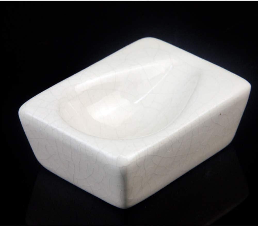 SSOLEREIT Accesorios de tubería Azul y Blanco Marco de Porcelana Cubo Marco Agrietado Cubo Cuadrado tubería de cerámica Marco de la exhibición del Marco de una Sola Base Cubo (Color : Si)